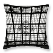 Stained Glass Hoboken Terminal Throw Pillow