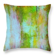 Stained Glass Houses Throw Pillow