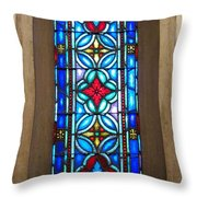 Stained Glass In Redeemer Lutheran Throw Pillow