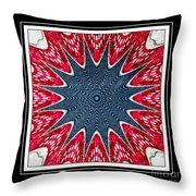 Stained Glass Lace - Kaleidoscope Throw Pillow
