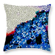 Stained Glass Leopard 1 Throw Pillow