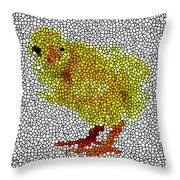 Stained Glass Little Chicken Throw Pillow