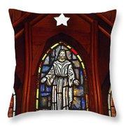 Stained Glass Saviour Throw Pillow