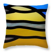 Stained Glass Scenery 3 Throw Pillow