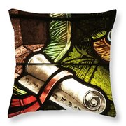 Stained Glass Scroll Throw Pillow