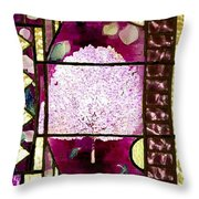 Stained Glass Template Magnolia Glory Throw Pillow