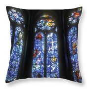 Stained Glass Triplets Throw Pillow