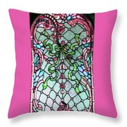 Stained Glass Window -2 Throw Pillow