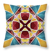 Stained Glass Window 5 Throw Pillow