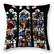 Stained Glass Window I Throw Pillow