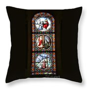 Stained Glass Window Iv Throw Pillow