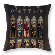 Stained Glass Window The Huntington Library Throw Pillow
