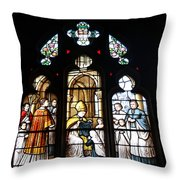 Stained Glass Window V Throw Pillow