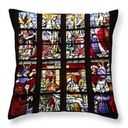 Stained Glass Window Xi Throw Pillow