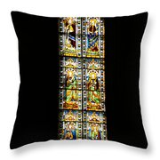 Stained Of Florence Throw Pillow