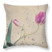 Stained Tulip Throw Pillow by Cristina-Velina Ion
