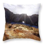Stair Hole Cove Dorset Throw Pillow