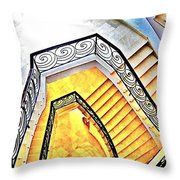 Staircase Abstract Throw Pillow