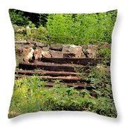 Staircase In The Forest Throw Pillow