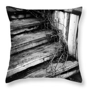 Stairing Taken Over By Time Throw Pillow