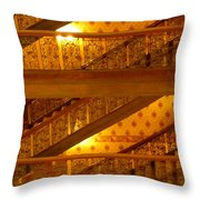 Stairs At The Brown Palace Throw Pillow
