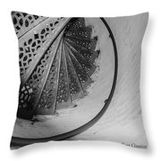 Stairs At The Fort Gratiot Light House Throw Pillow