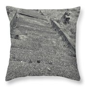 Stairs In The Cemetary Throw Pillow