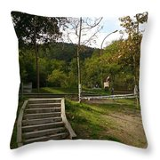 Stairs In The Park Throw Pillow