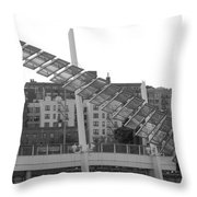 Stairs In The Sky In Black And White Throw Pillow