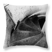 Stairs Leading Downward Into The Catacombs Of Paris France Throw Pillow