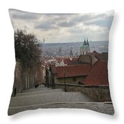 Stairs To Prague Throw Pillow