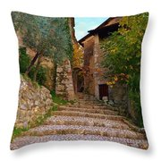 Stairs To The Village Throw Pillow