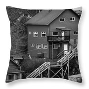 Stairs Up To Home Throw Pillow