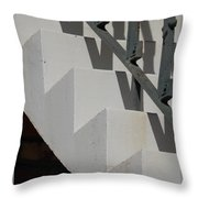 Stairs With Shadow Throw Pillow