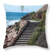 Stairway And Agave On Top. Throw Pillow