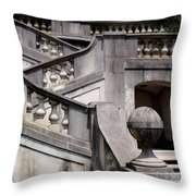 Stairway At Winterthur Throw Pillow