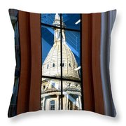 Stairway Dome Reflection Throw Pillow