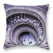 Stairway In Vatican Museum Throw Pillow