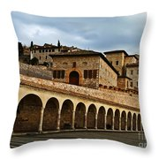 Stairway To Assissi Throw Pillow