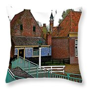 Stairway To Enkhuizen From The Dike-netherlands Throw Pillow