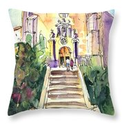 Stairway To Heaven In Llansa Throw Pillow