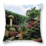 Stairway To Isola Bella Throw Pillow