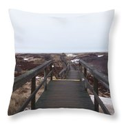 Stairway To The Atlantic Throw Pillow