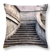 Stairway To The Unknown Throw Pillow by Sandra Bronstein