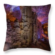 Stalactite Cave Wall Throw Pillow