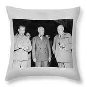 Stalin Truman And Churchill  Throw Pillow