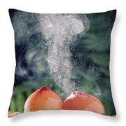 Stalked Puffball-in-aspic Calostoma Throw Pillow