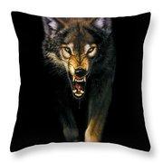 Stalking Wolf Throw Pillow