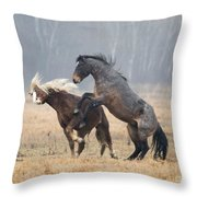 Stallion Challenge Throw Pillow