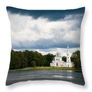 Stameriena Orthodox Church Throw Pillow